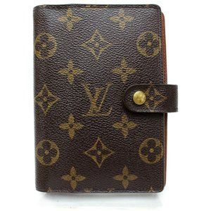 💯 Auth Louis Vuitton Diary Cover Agenda PM Mono